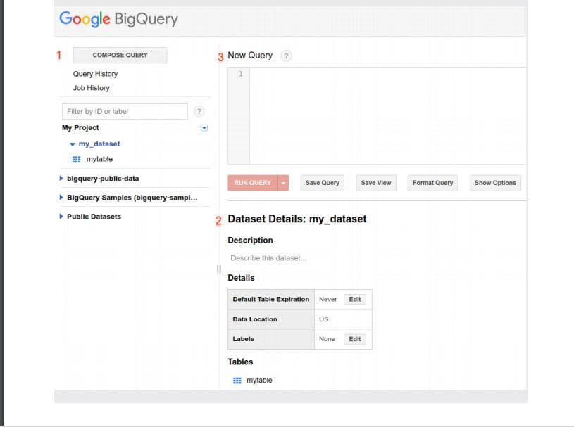 BigQuery Classic WebUI