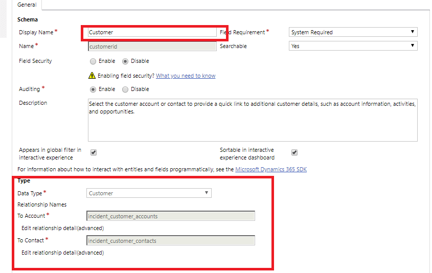 CRM Fields Contact Type