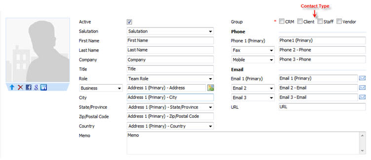 Contact CRM Field