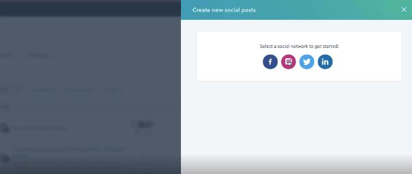 HubSpot Instagram Integration: select social network instagram