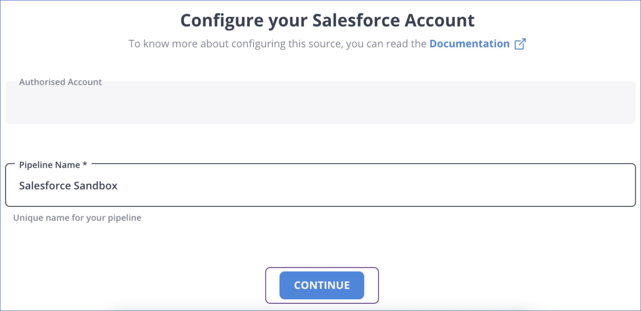 Salesforce to postgresql- Salesforce Source Config