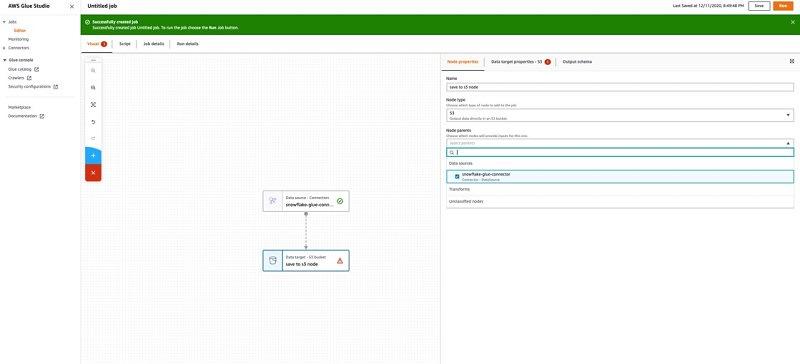 Amazon(AWS)  Snowflake Integration - Save Data