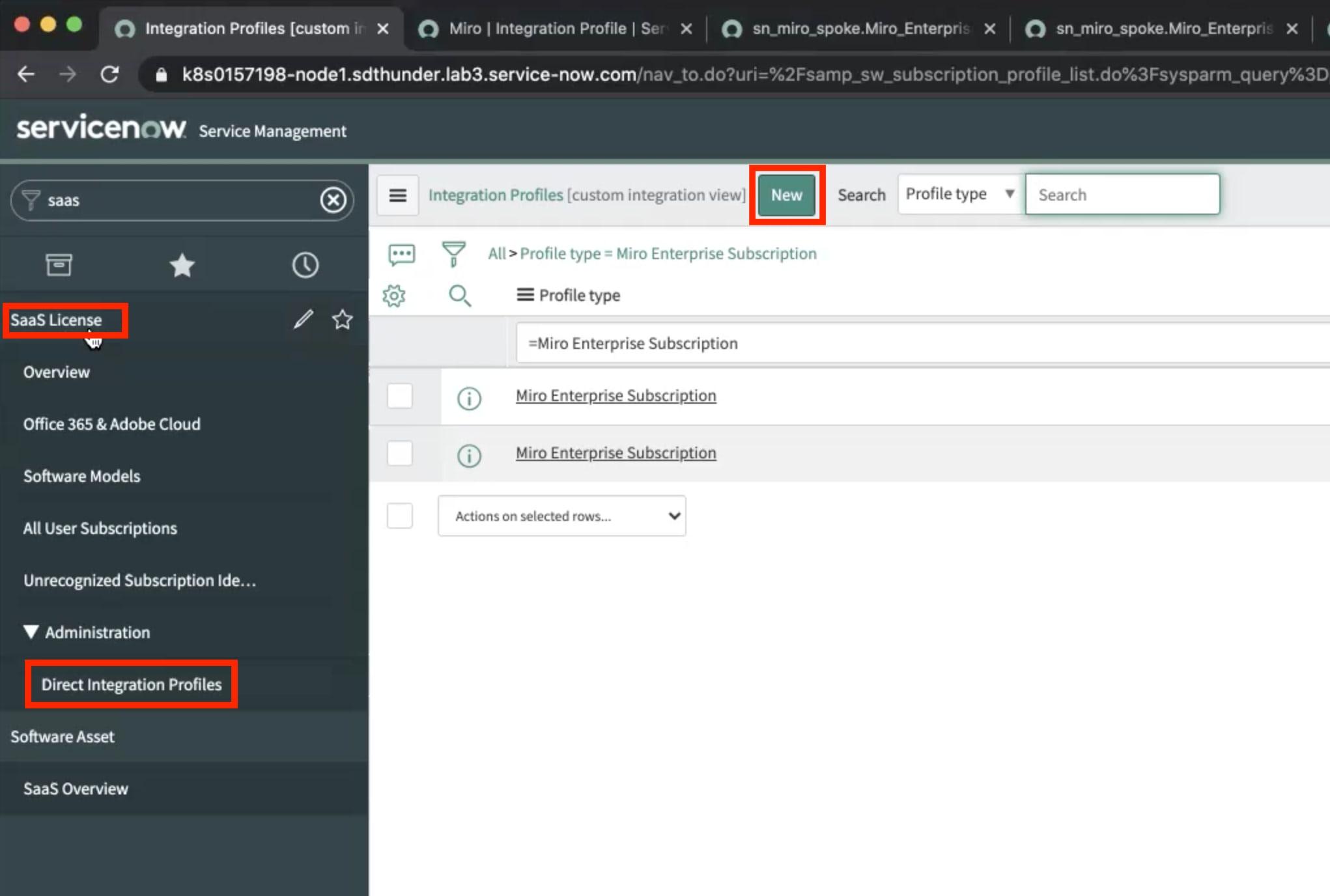 ServiceNow Salesforce - Direct Integration Profile
