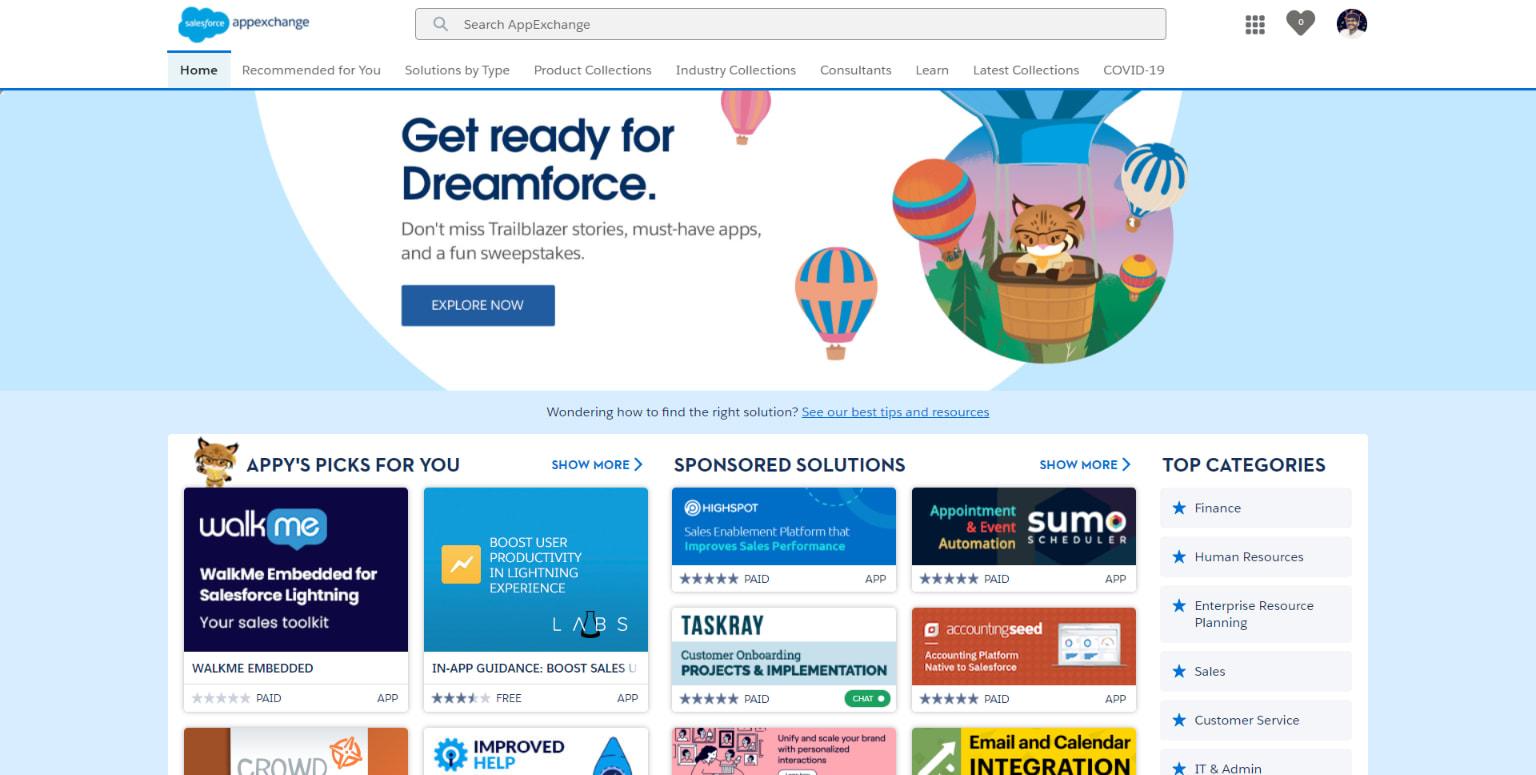 Salesforce AppExchange: WalkMe Salesforce Integration