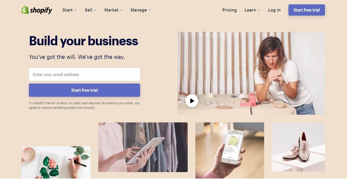 create a Shopify store: create Shopify account
