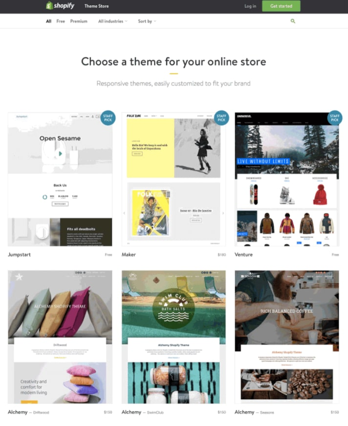 create a Shopify store: Theme for shopify store