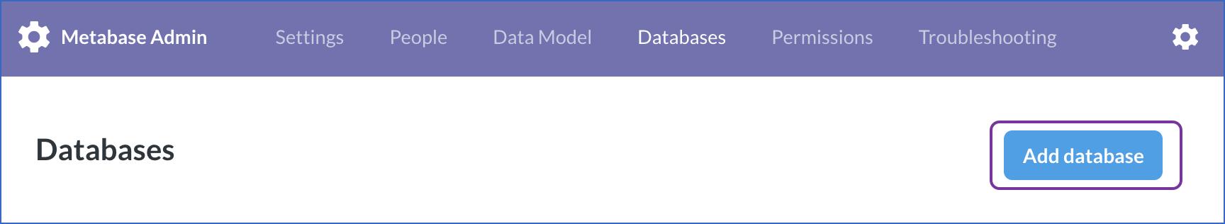 Add Database option