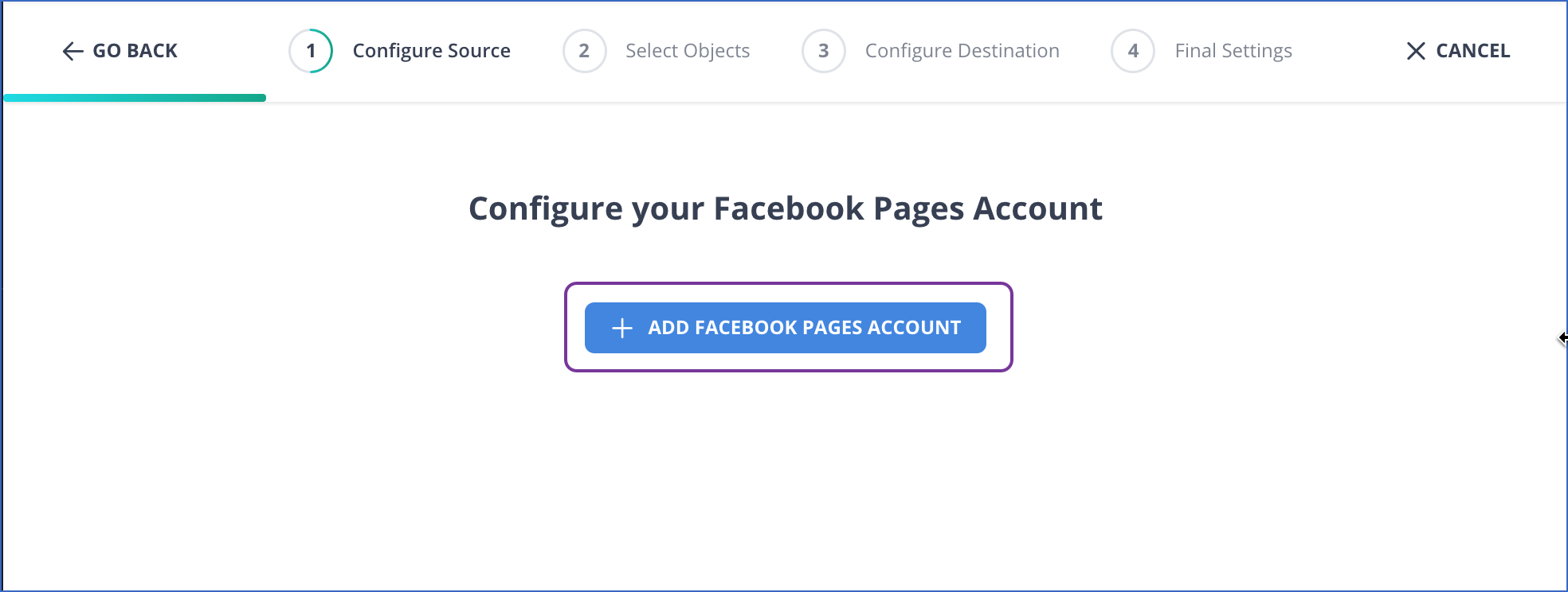 Add Facebook Pages Account