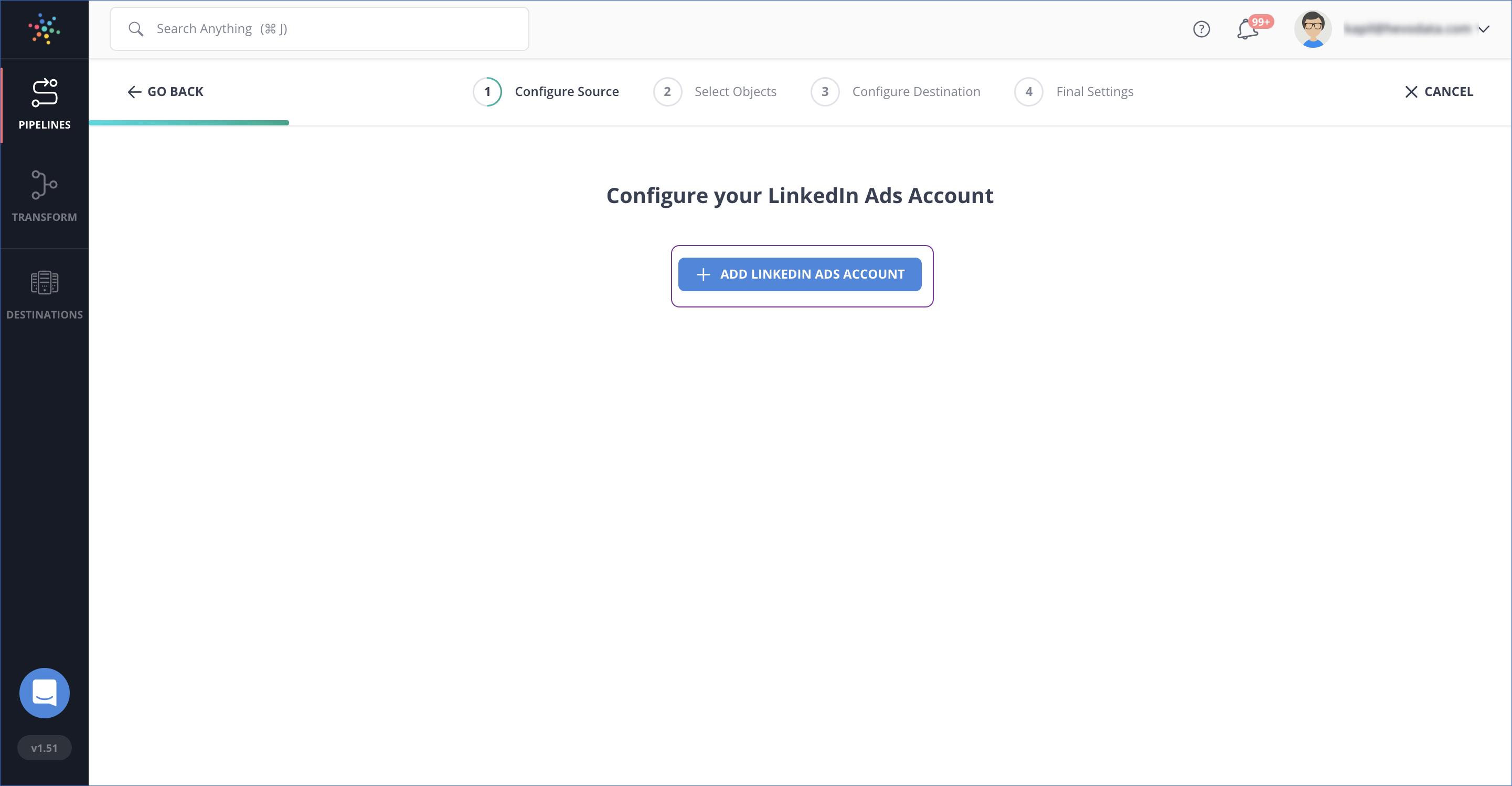 Add LinkedIn Ads Account
