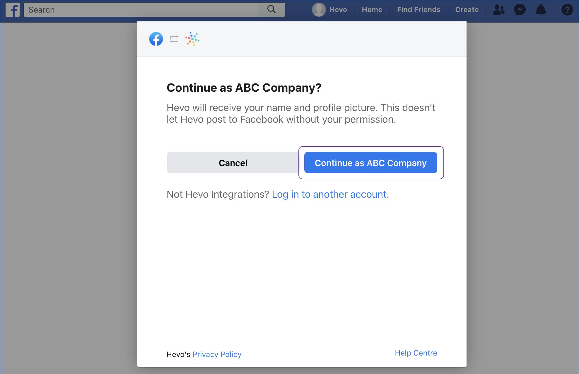 Continue as ABC Company
