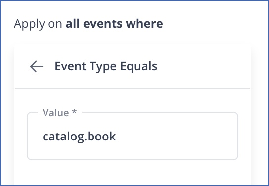 Add Event Type filter