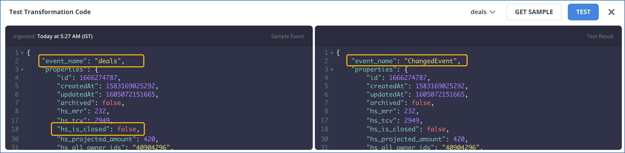 Rename an Event