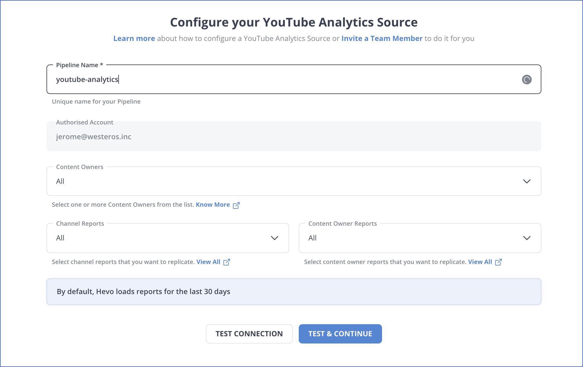 YouTube Source Settings