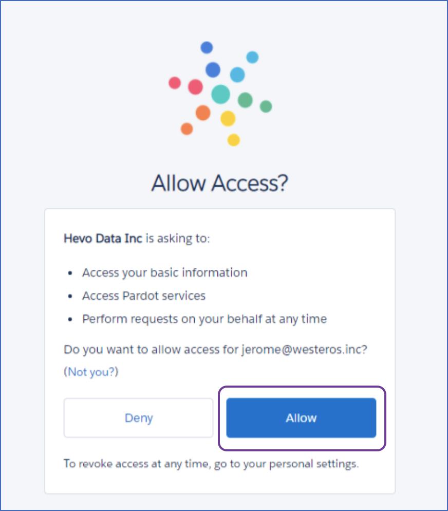 Allow access
