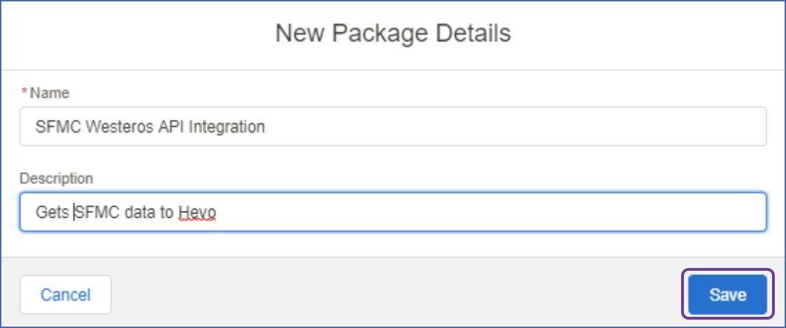 New package details