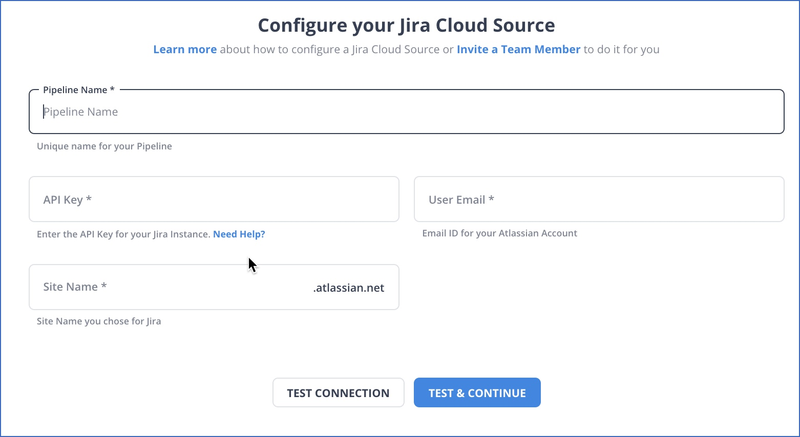 Jira Cloud settings