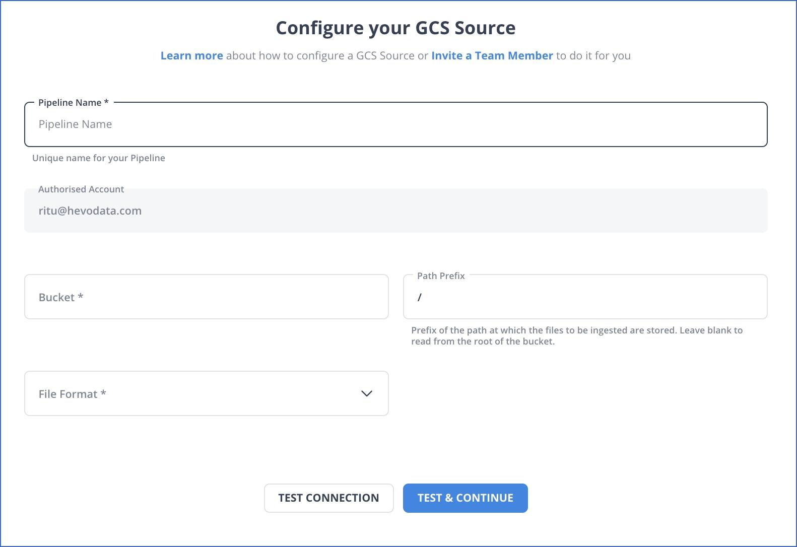 GCS settings