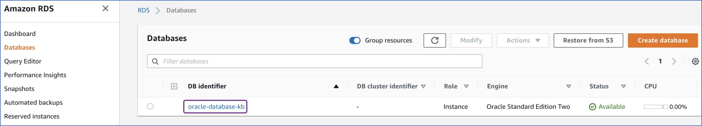 Click DB Identifier