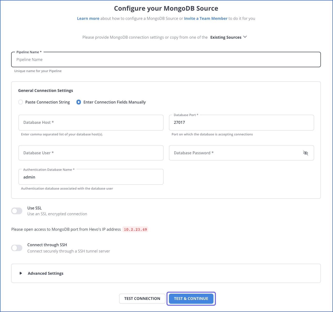Configure Source