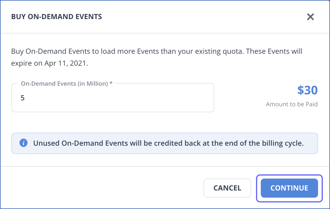 Purchase On-Demand Events