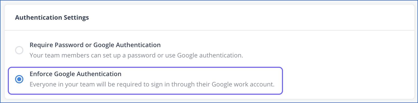 Enforce Google Authentiation