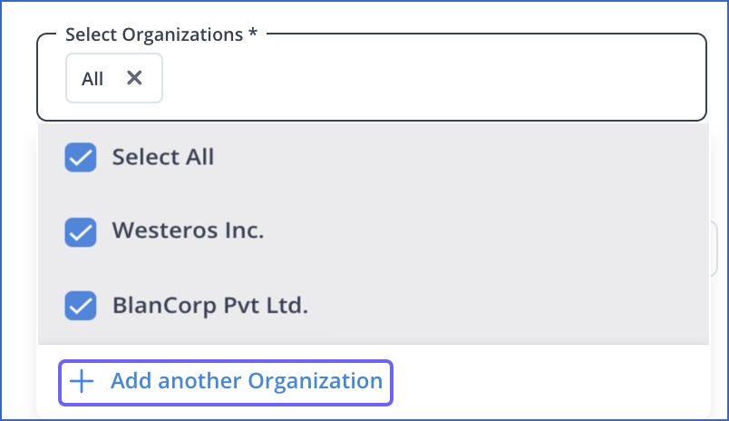 Add Another organization