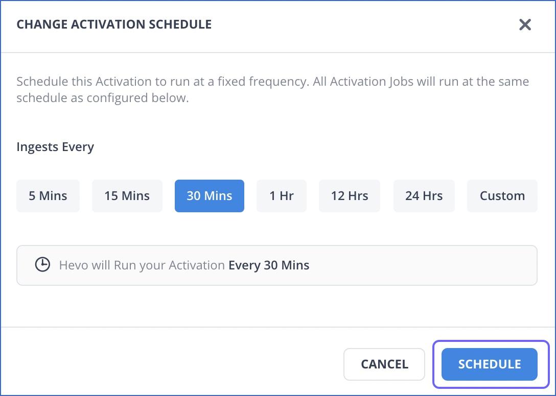 Schedule Activation