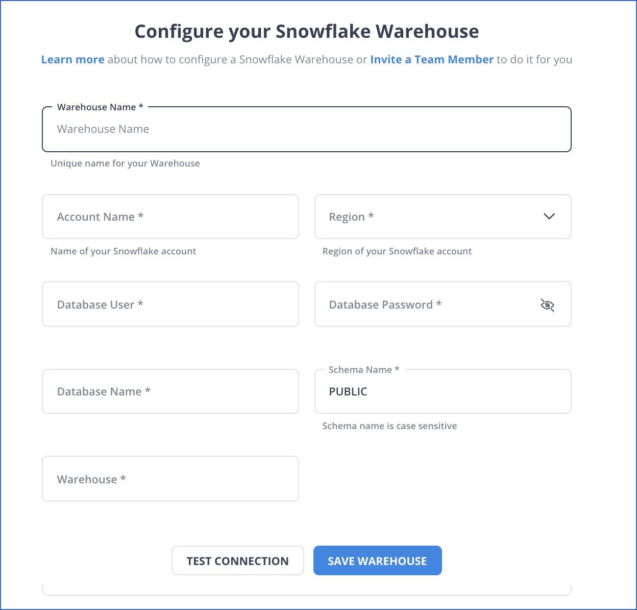 Snowflake Warehouse Settings