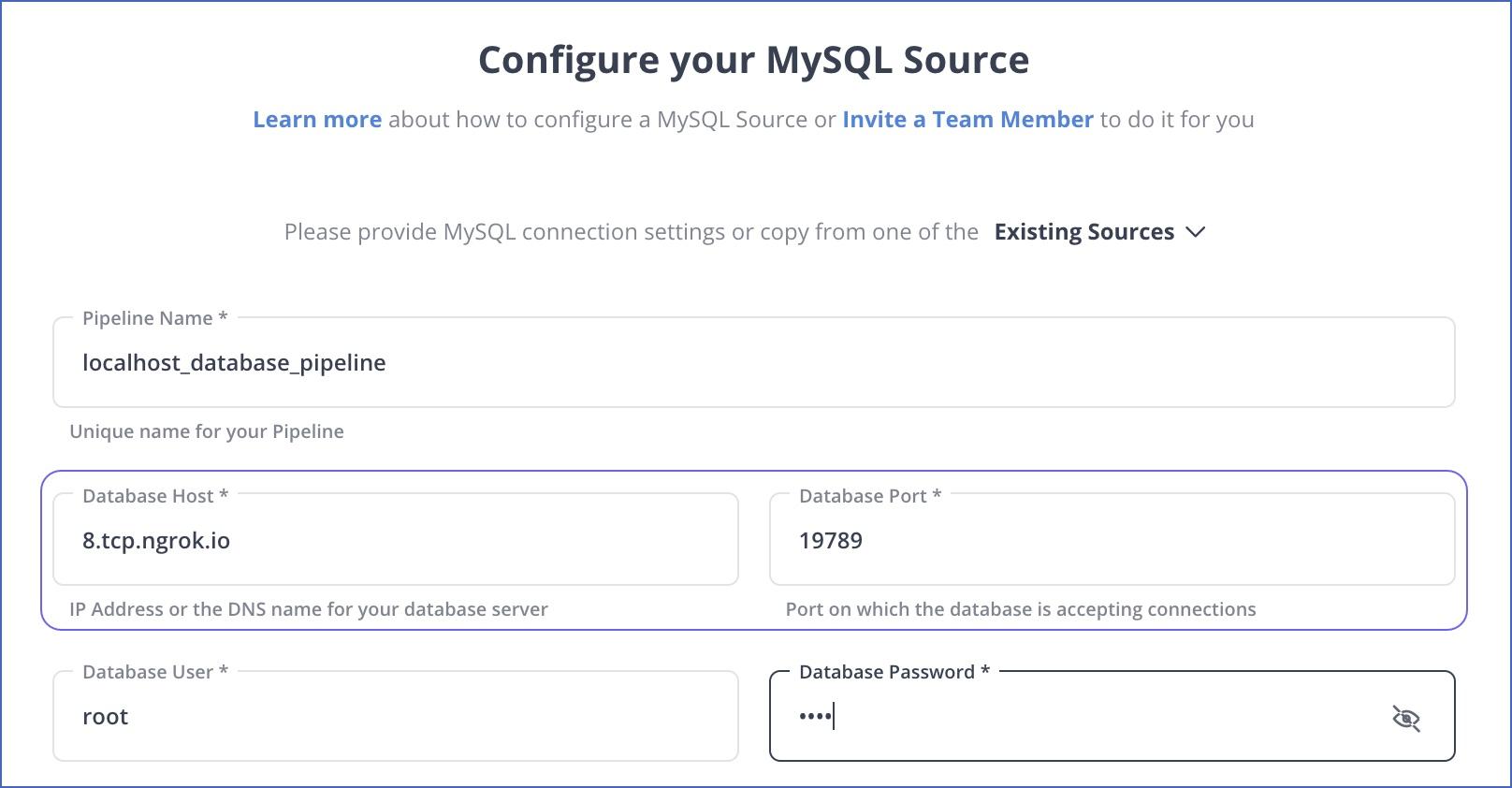 MySQL settings
