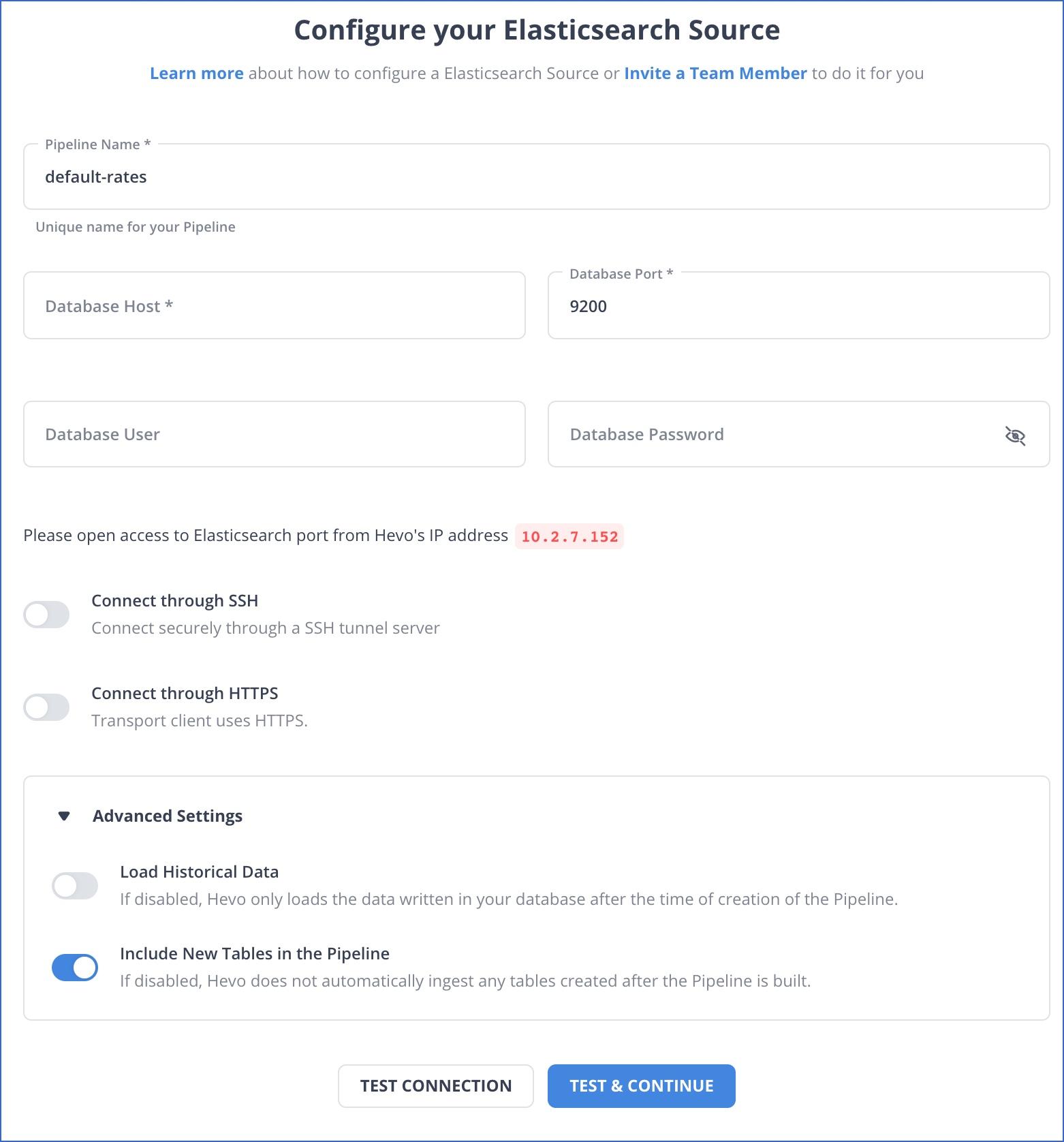 Elasticsearch settings