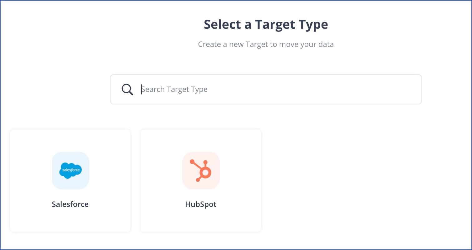 Select a Target Type