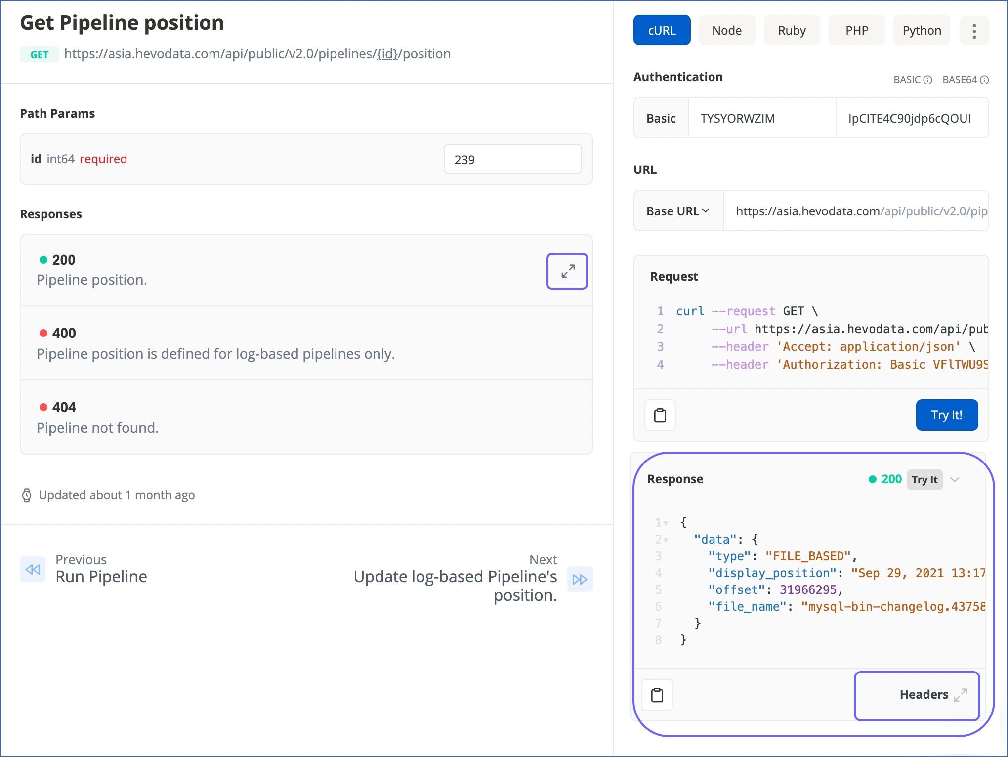 API Response UI