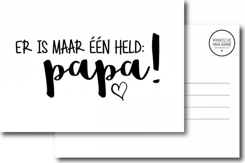 Er is maar één held: Papa!