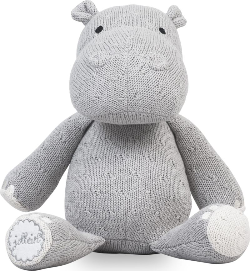 Knuffel Hippo Light Grey