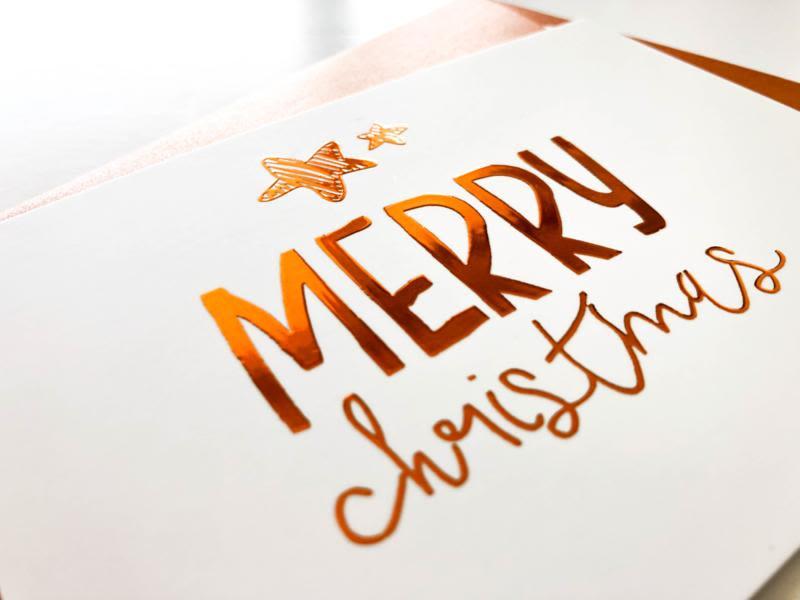 Copper Merry Christmas