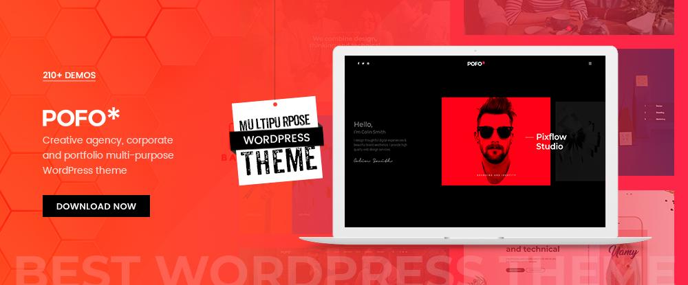 Pofo – A multipurpose portfolio, blog and eCommerce WordPress theme