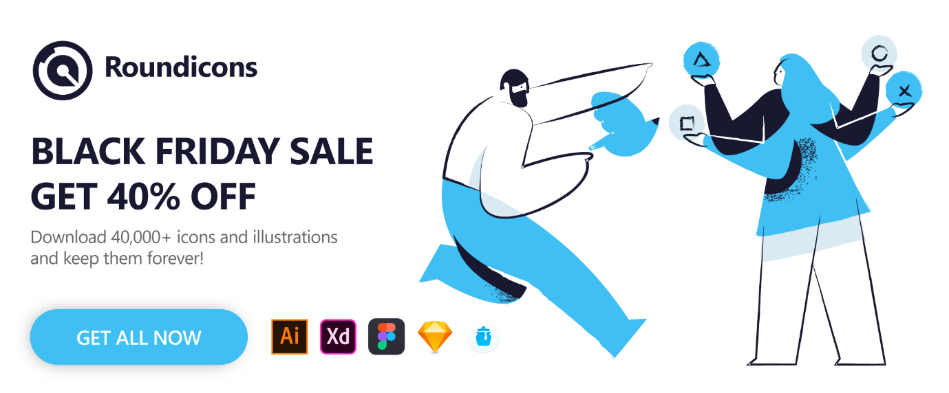 Round Icons Bundle – 40,000 Icons and illustrations