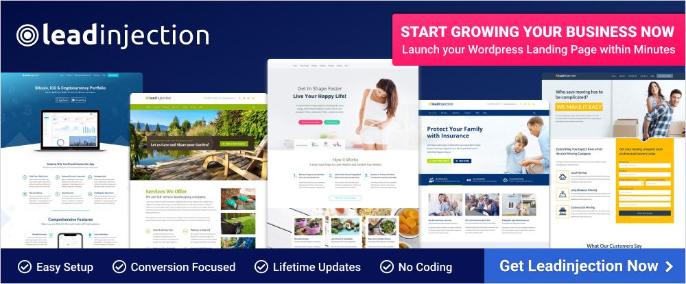 Leadinjection – WordPress Landing Page Theme