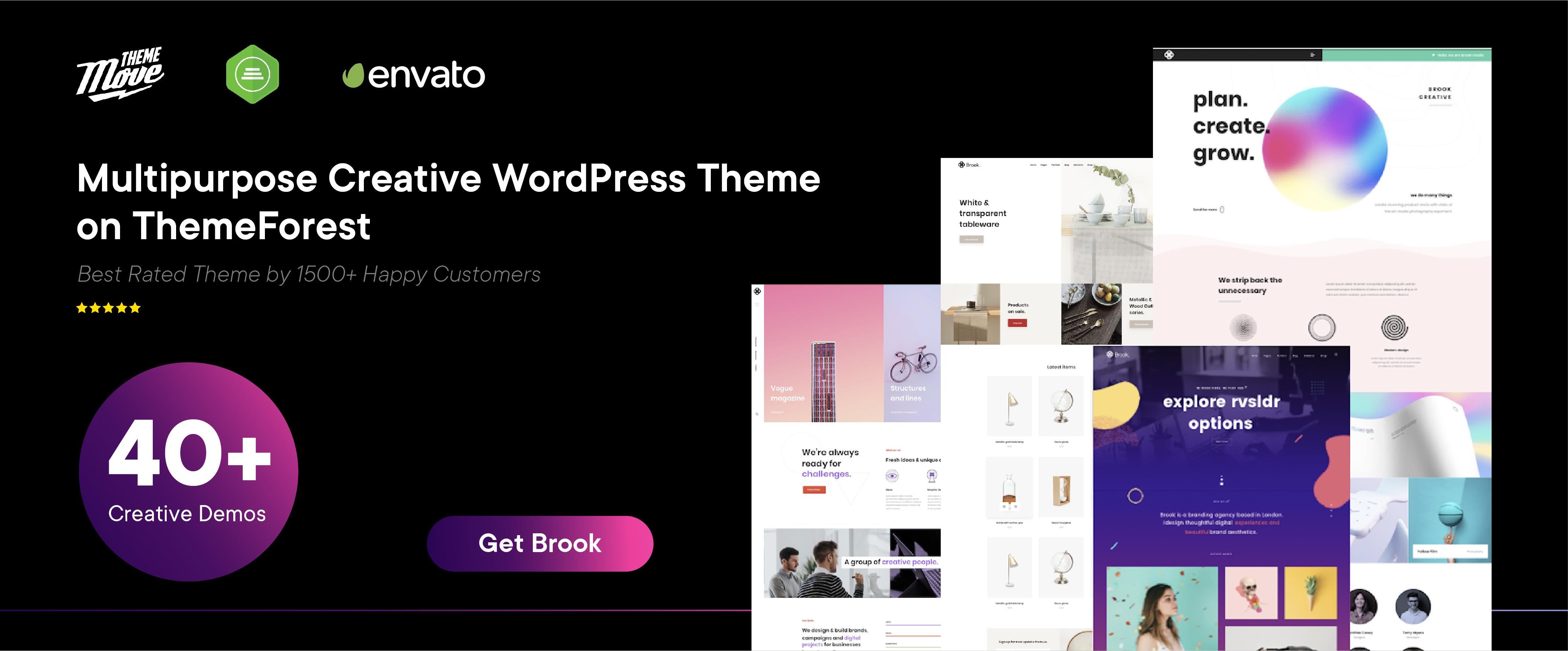 Brook – Multipurpose Creative WordPress Theme