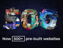 Be: 500+ gorgeous pre-built websites