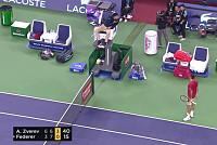 Roger Federer fumes at umpire during...