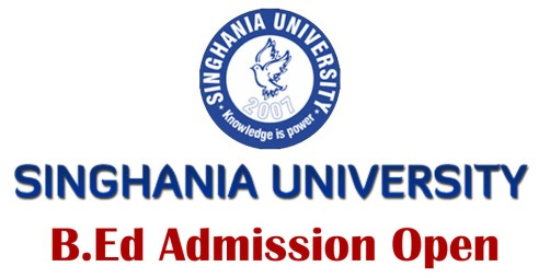 Singhania University Admission Open Courses mbbs MBA MCA B.Pharmacy Apply Now