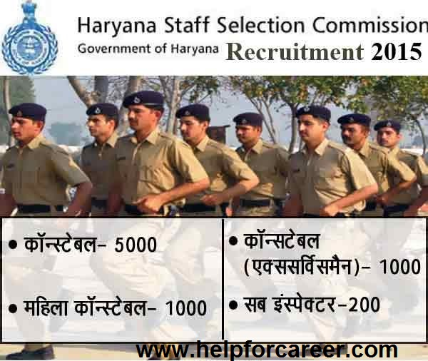Govt. Opening 7200 Constable & SI Recruitment In Haryana Police