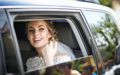 Wedding car rental with driver