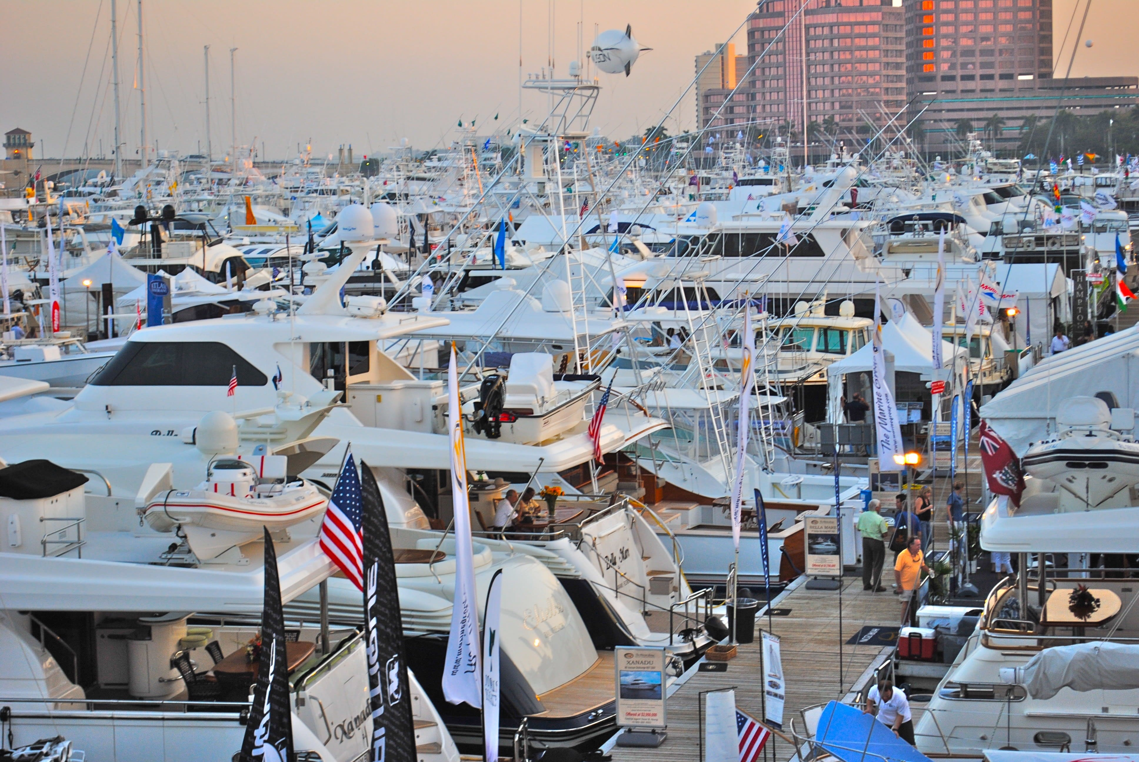 An in-water boat show