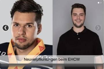 EHC Winterthur - Neuverpflichtungen Fabio Haller und Sebastian Jonski