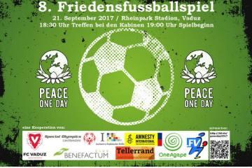 Fussballspiel als Zeichen für den Frieden