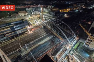 SBB verschiebt 550 Tonnen schwere Brücke