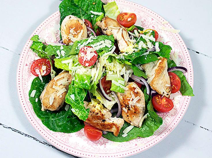 ceasarsallad med kyckling kalorier