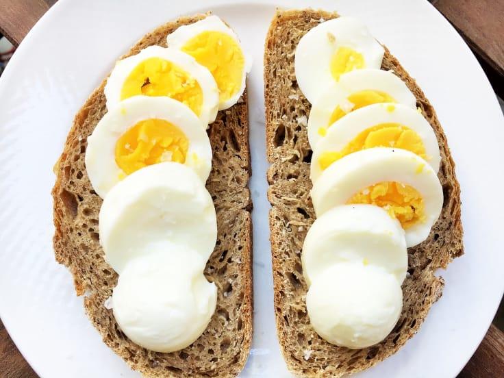 Nyttiga pålägg, mackor, ägg, äggmacka